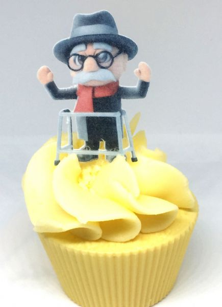 Grumpy Old Man & Zimmer Frame edible cake toppers